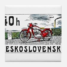 1975 Czechoslovakia Jawa Motorcycle Postage Stamp