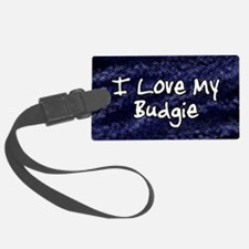 funklove_oval_budgie Luggage Tag