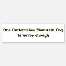 Entlebucher Mountain Dog Bumper Car Car Sticker