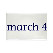 March 4 Rectangle Magnet