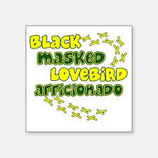 """afficionado_blackmask Square Sticker 3"""" x 3"""""""