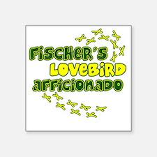 "afficionado_fischers Square Sticker 3"" x 3"""