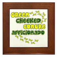 afficionado_greencheek Framed Tile