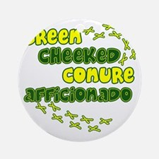 afficionado_greencheek Round Ornament