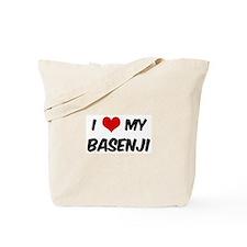 I Love: Basenji Tote Bag