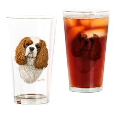Cute King charles spaniel Drinking Glass
