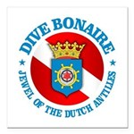 Dive Bonaire (rd) Square Car Magnet 3