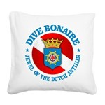 Dive Bonaire (rd) Square Canvas Pillow