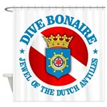 Dive Bonaire (rd) Shower Curtain