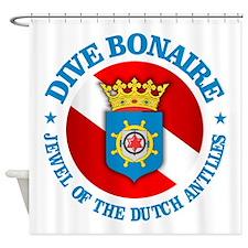 Dive Bonaire (rd) Shower Curtain