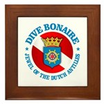 Dive Bonaire (rd) Framed Tile