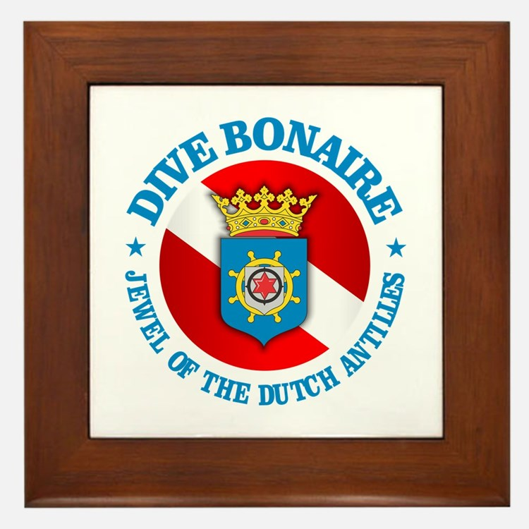Dive Bonaire (rd) Framed Tile