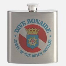 Dive Bonaire (rd) Flask