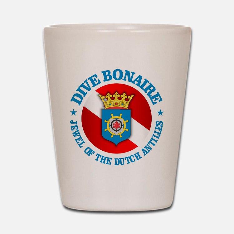 Dive Bonaire (rd) Shot Glass