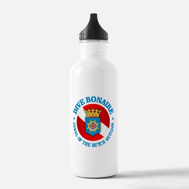 Dive Bonaire (rd) Water Bottle