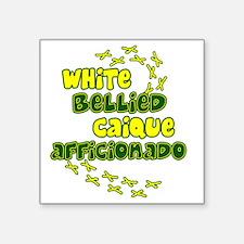 """afficionado_whitebelly Square Sticker 3"""" x 3"""""""
