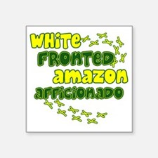 "afficionado_whitefront Square Sticker 3"" x 3"""