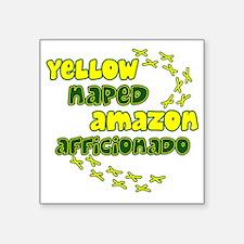 """afficionado_yellownape Square Sticker 3"""" x 3"""""""