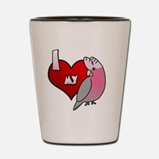 iheartmy_galah_hat Shot Glass