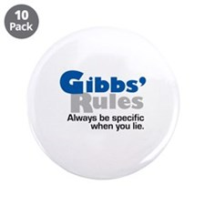 "Gibbs Rule Specific When You Lie 3.5"" Button (10 p"