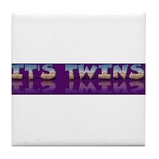 It's twins announcement Tile Coaster