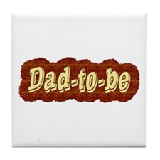 Dad-to-be (woodgrain style) Tile Coaster