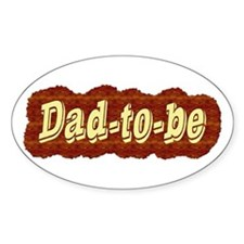 Dad-to-be (woodgrain style) Oval Decal
