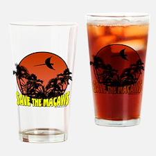savethemacawsorange Drinking Glass