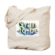 Gran-to-be 3D text Tote Bag