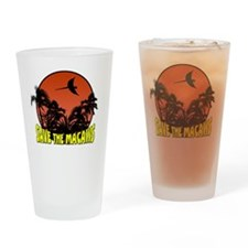 savethemacawsorange_tile Drinking Glass