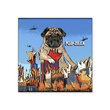 "pugzilla_ornament Square Sticker 3"" x 3"""