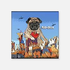"""pugzilla_ornament Square Sticker 3"""" x 3"""""""
