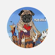 """pugzilla_ornament 3.5"""" Button"""