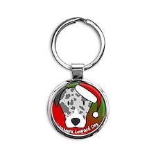 anime_catahoula_ornament Round Keychain