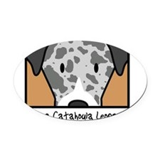 anime_catahoula Oval Car Magnet