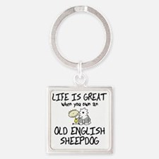 lifeisgreat_oes Square Keychain