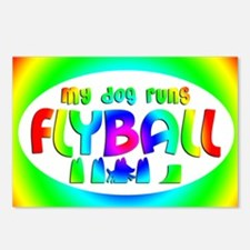 runsflyball_rainbow_oval Postcards (Package of 8)