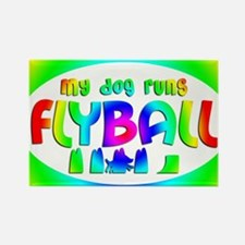 runsflyball_rainbow_oval Rectangle Magnet