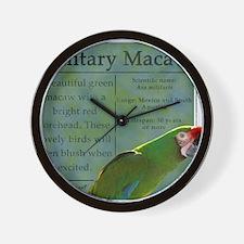 military_parrotwear Wall Clock