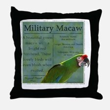 military_parrotwear_blk Throw Pillow