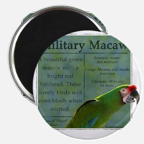 military_parrotwear_blk Magnet