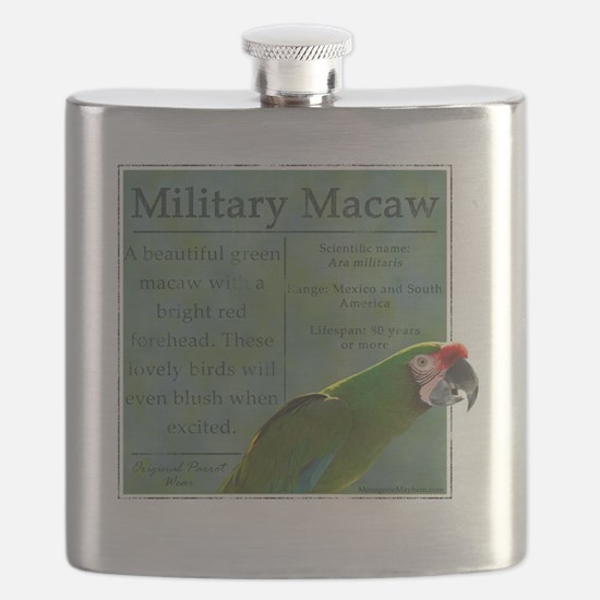 military_parrotwear_blk Flask