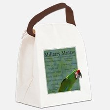 military_parrotwear_blk Canvas Lunch Bag