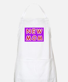 New Mom - baby announcement BBQ Apron