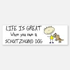 lifeisgreat_schutzhund_bowl Sticker (Bumper)