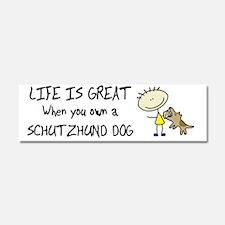 lifeisgreat_schutzhund_bowl Car Magnet 10 x 3