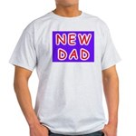 For new fathers, a NEW DAD Ash Grey T-Shirt