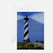 Cape Hatteras Light House with Chris Greeting Card