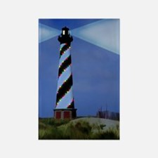 Cape Hatteras Light House with Ch Rectangle Magnet