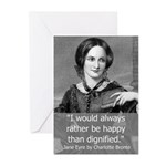 20 Happiness Quote From Jane Eyre Greeting Cards